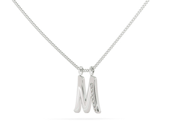 M Alphabet Pendant - HPRAM - 360 animation