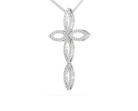 Designer Diamond Pendant - HPRDR112 - 360 animation