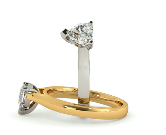 Heart Solitaire Diamond Ring - HRH367 - 360 animation