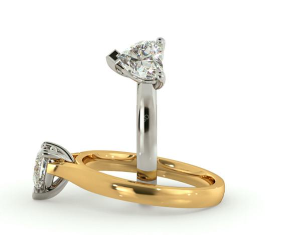 Heart Solitaire Diamond Ring - HRH441 - 360 animation