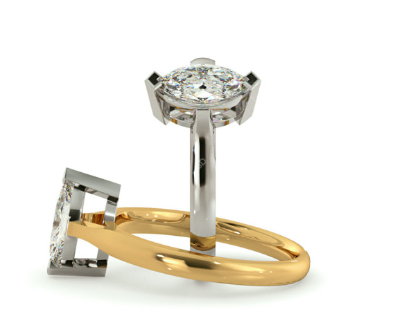 Marquise Solitaire Diamond Ring - HRM288 - 360 animation