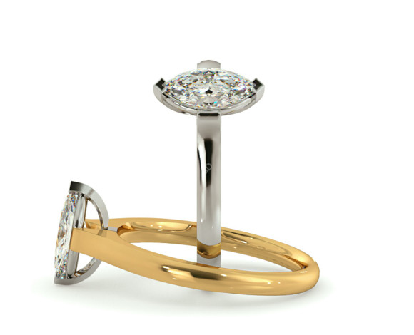 Marquise Solitaire Diamond Ring - HRM471 - 360 animation