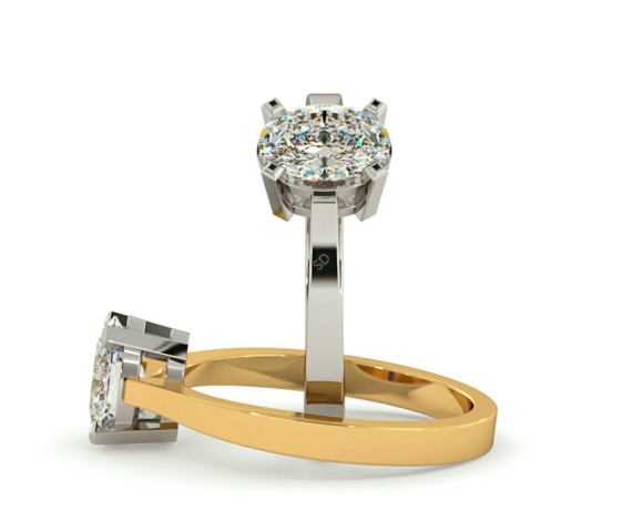 Oval Solitaire Diamond Ring - HRO291 - 360 animation