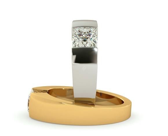 Princess Solitaire Diamond Ring - HRP261 - 360 animation