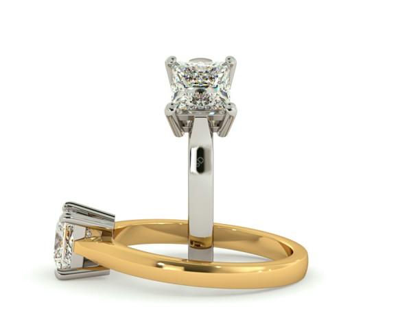 Princess Solitaire Diamond Ring - HRP266 - 360 animation