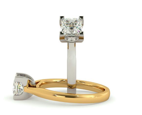 Princess Solitaire Diamond Ring - HRP277 - 360 animation