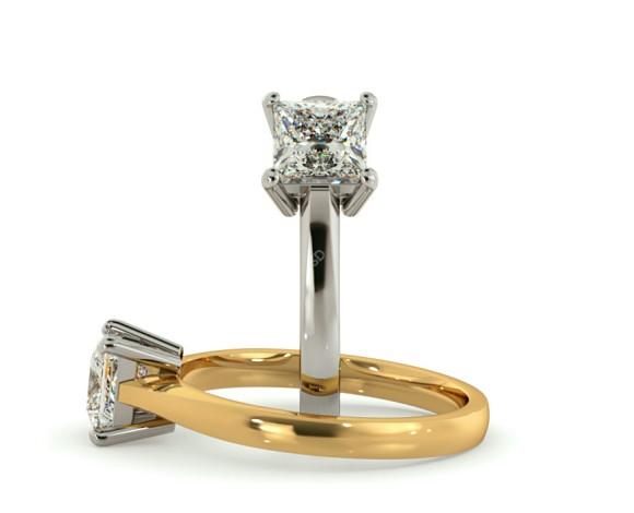 Princess Solitaire Diamond Ring - HRP283 - 360 animation