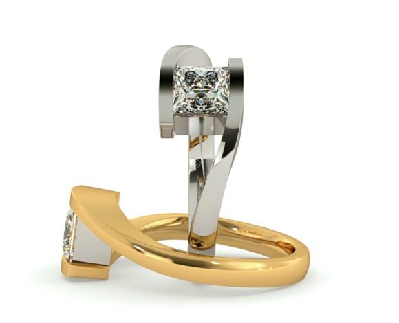 Princess Solitaire Diamond Ring - HRP307 - 360 animation