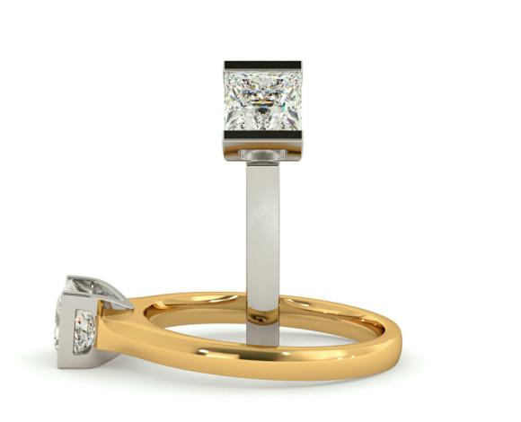 Princess Solitaire Diamond Ring - HRP313 - 360 animation