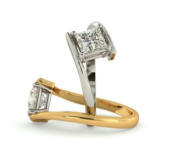 Princess Solitaire Diamond Ring - HRP322 - 360 animation