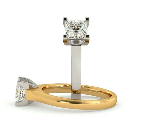 Princess Solitaire Diamond Ring - HRP330 - 360 animation