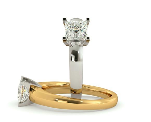 Princess Solitaire Diamond Ring - HRP352 - 360 animation
