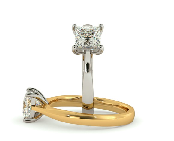 Princess Solitaire Diamond Ring - HRP364 - 360 animation