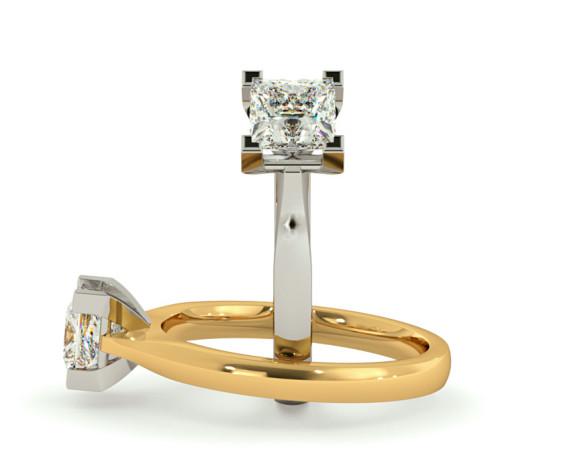 Princess Solitaire Diamond Ring - HRP373 - 360 animation