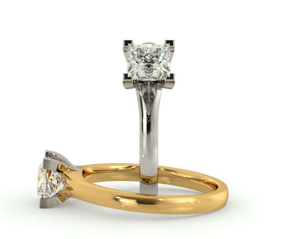 Princess Solitaire Diamond Ring - HRP402 - 360 animation