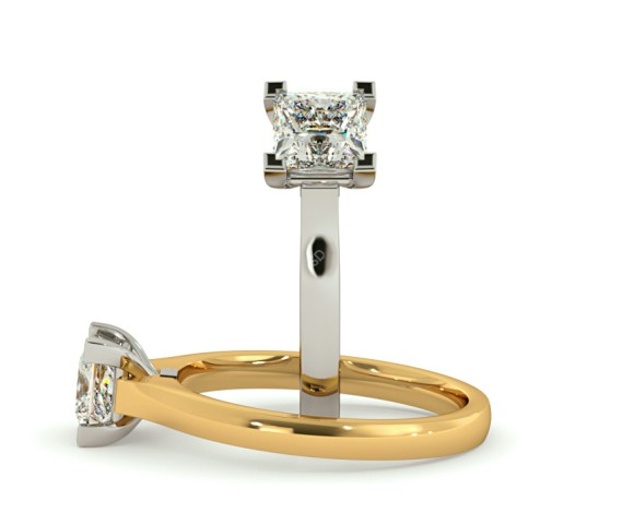 Princess Solitaire Diamond Ring - HRP493 - 360 animation