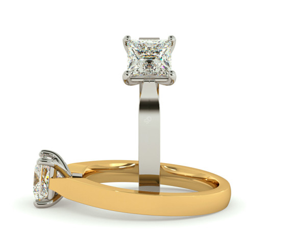 Princess Solitaire Diamond Ring - HRP497 - 360 animation