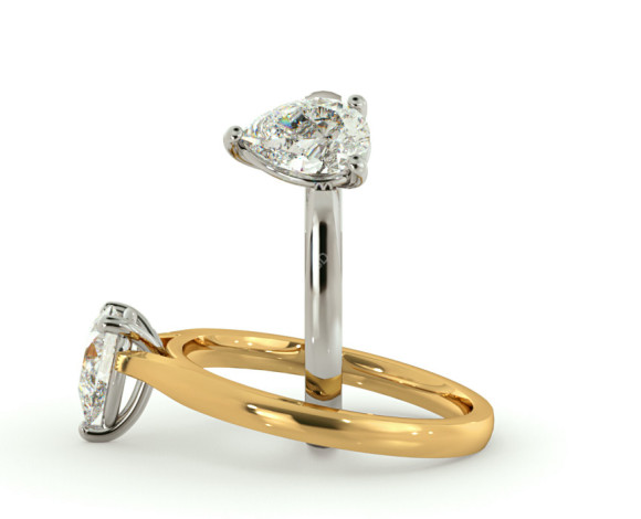 Pear Solitaire Diamond Ring - HRPE443 - 360 animation