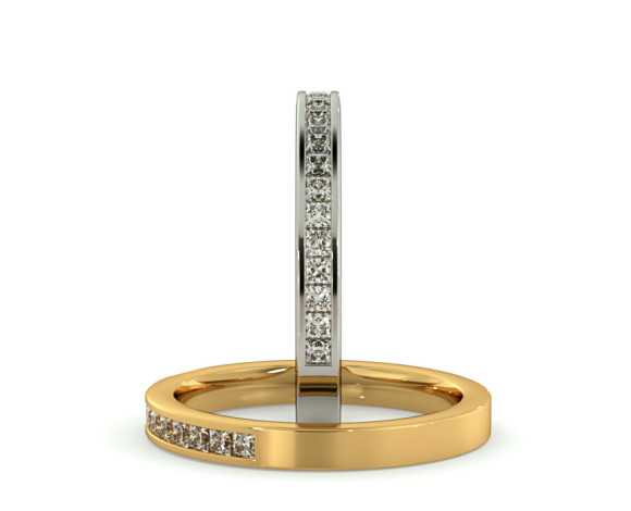 CENTAURUS Princess  cut Half Eternity Ring - HRPHE716 - 360 animation