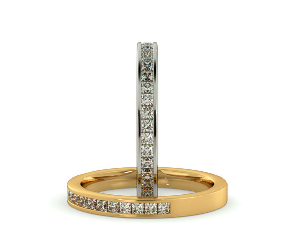 CENTAURUS 60% Princess cut Half Eternity Ring - HRPHE770 - 360 animation