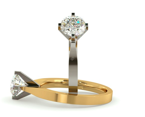 Round Solitaire Diamond Ring - HRR295 - 360 animation