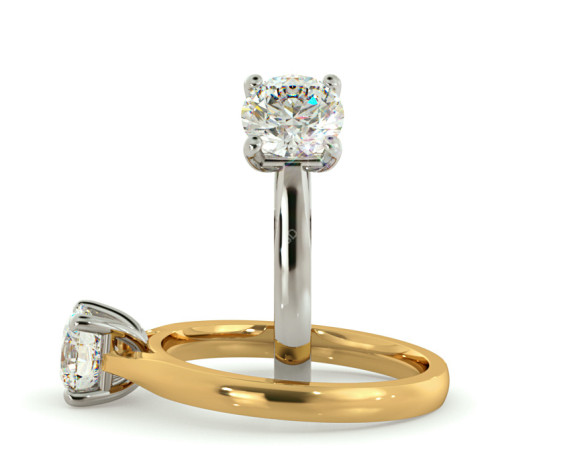 Round Solitaire Diamond Ring - HRR544 - 360 animation