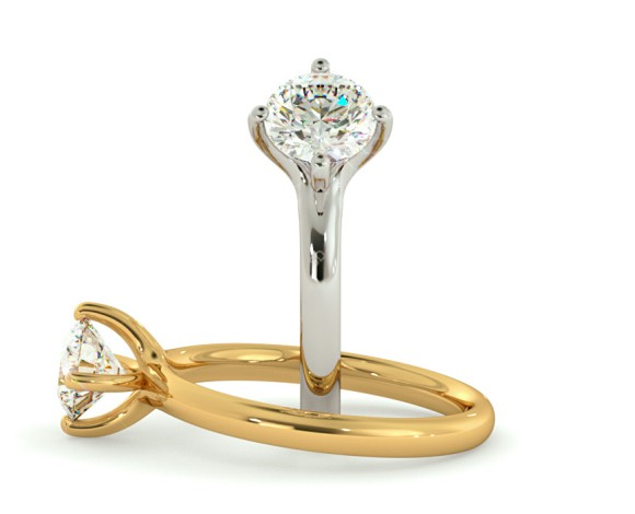 Round Solitaire Diamond Ring - HRR568 - 360 animation