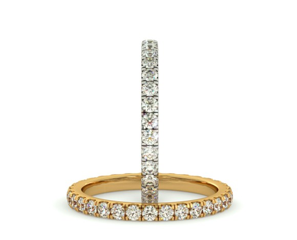PEGASUS Round cut Full Diamond Eternity Ring - HRRFE736 - 360 animation