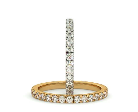 PEGASUS Round cut Full Diamond Eternity Ring - HRRFE736 - 360 animation