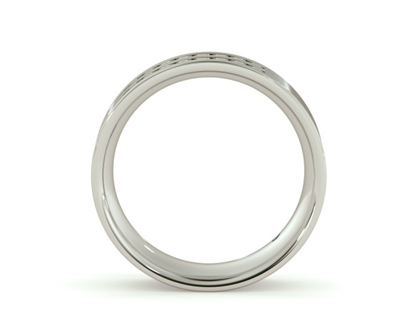 URSA Double Row Round cut Half Eternity Ring - HRRHE720 - 360 animation