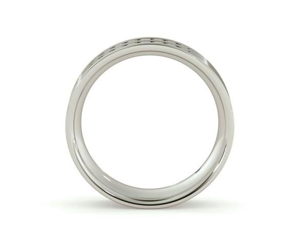 URSA Double Row Round cut Half Eternity Ring - HRRHE720 - 360 animation