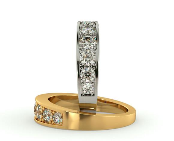 VEGA Graduating 7 stone Round cut Diamond Eternity Ring - HRRHE776 - 360 animation