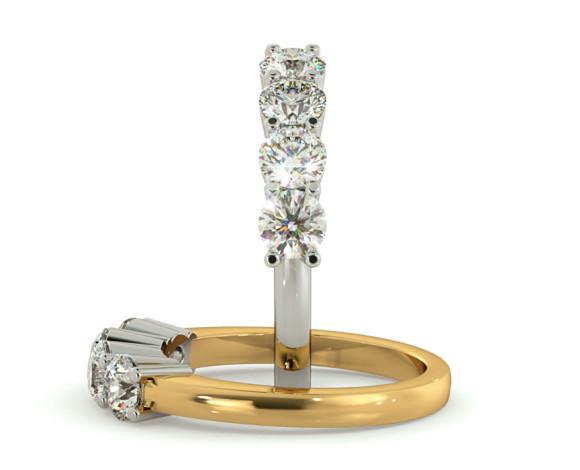 Round 4 Stone Diamond Ring - HRRTR200 - 360 animation