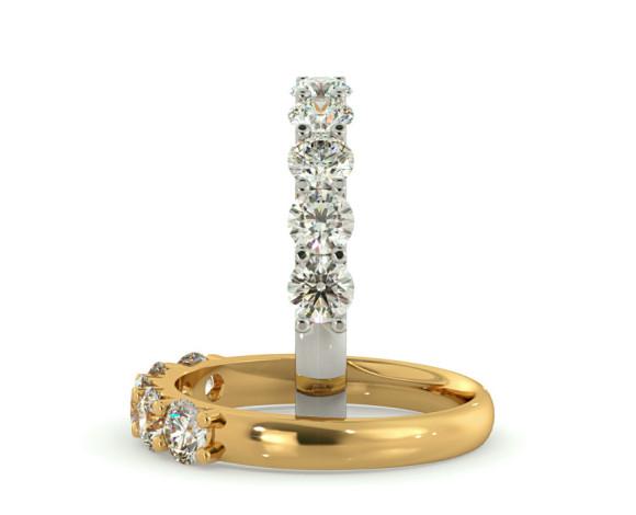 Round 5 Stone Diamond Ring - HRRTR221 - 360 animation