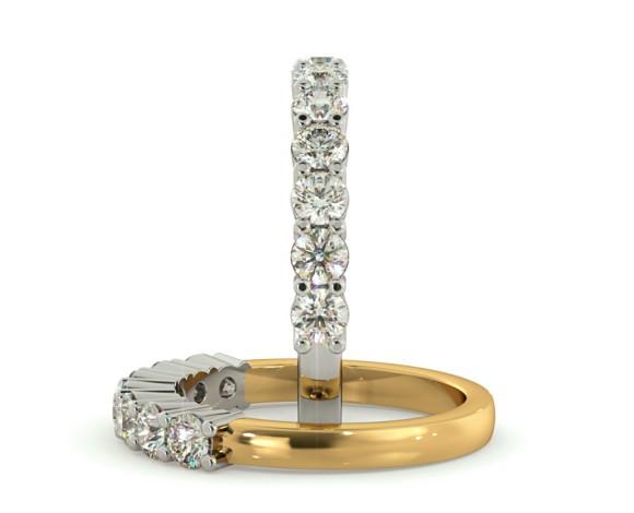 Round 7 Stone Diamond Ring - HRRTR223 - 360 animation
