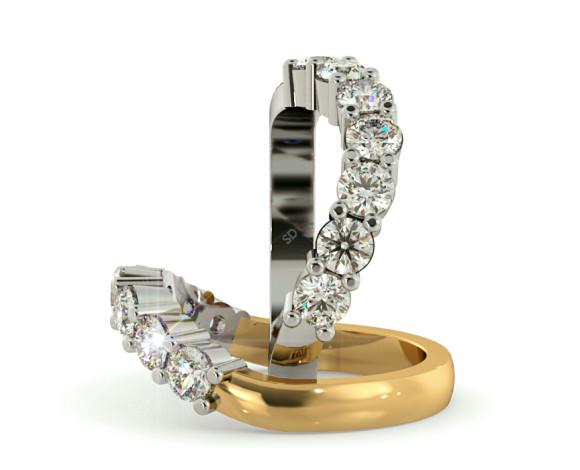 Round 7 Stone Diamond Ring - HRRTR224 - 360 animation