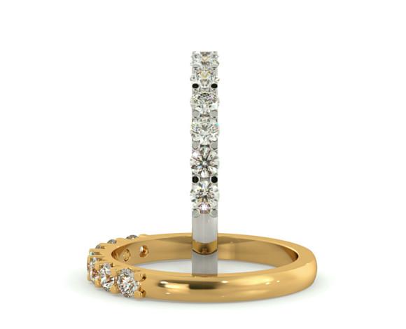 Round 7 Stone Diamond Ring - HRRTR228 - 360 animation