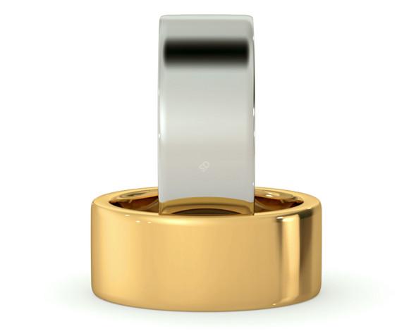 Flat Wedding Ring - 8mm width, Medium depth - HWNA817 - 360 animation