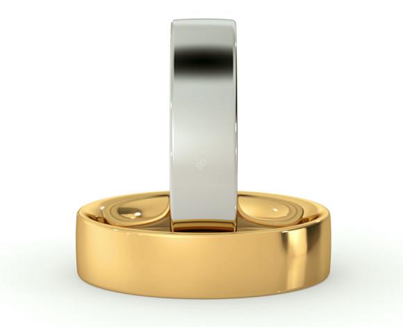 Flat Court Wedding Ring - 5mm width, Medium depth - HWNC517 - 360 animation