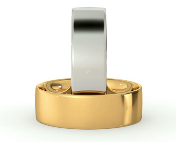 Flat Court Wedding Ring - 6mm width, Thin depth - HWNC613 - 360 animation