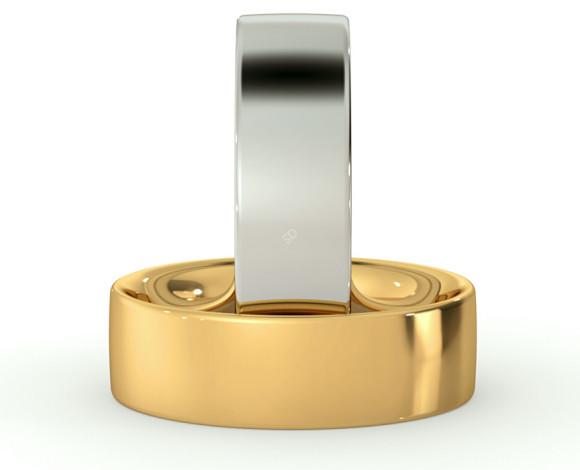 Flat Court Wedding Ring - 6mm width, Medium depth - HWNC617 - 360 animation