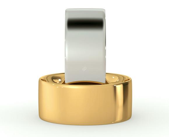 Flat Court Wedding Ring - 8mm width, Thin depth - HWNC813 - 360 animation