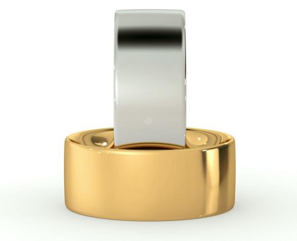Flat Court Wedding Ring - 8mm width, Medium depth - HWNC817 - 360 animation