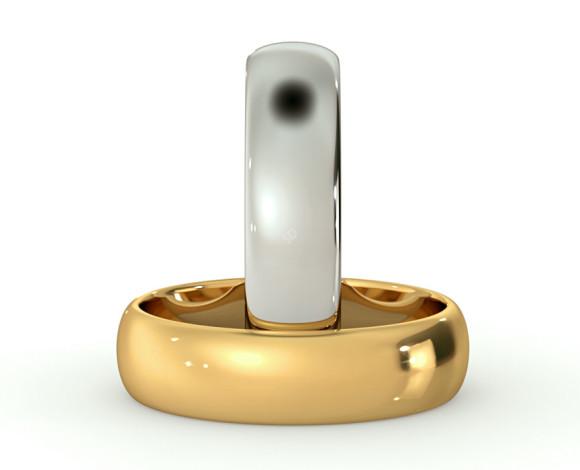 D Shape Wedding Ring - Lightweight, 5mm width - HWND513 - 360 animation