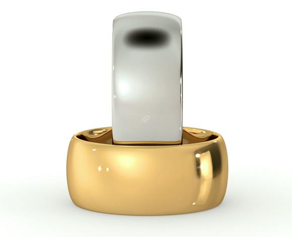 D Shape Wedding Ring - Lightweight, 8mm width - HWND813 - 360 animation