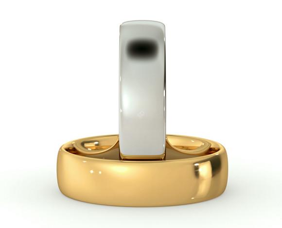 Traditional Court Wedding Ring - Lightweight, 5mm width - HWNE513 - 360 animation