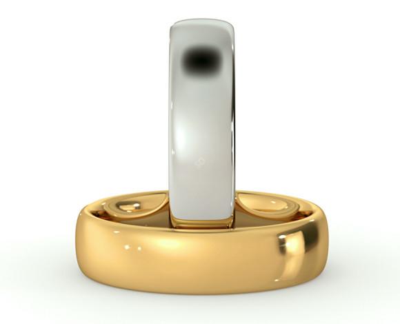 Traditional Court Wedding Ring - 5mm width, Medium depth - HWNE517 - 360 animation