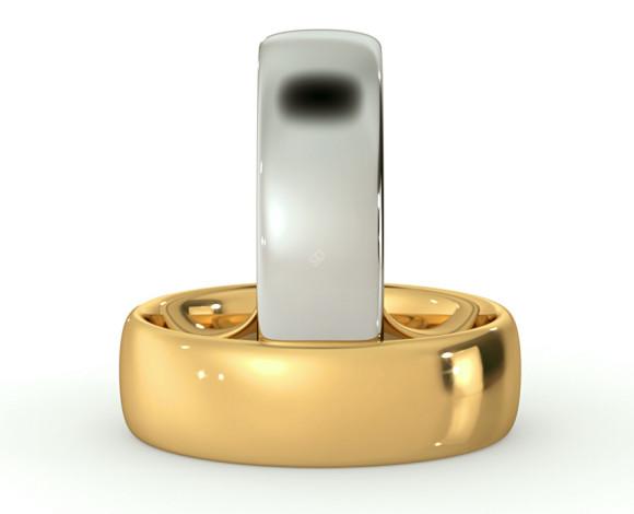 Traditional Court Wedding Ring - 6mm width, Medium depth - HWNE617 - 360 animation
