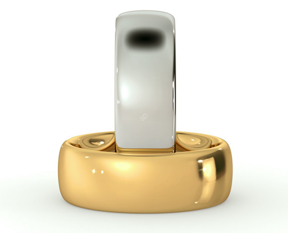 Traditional Court Wedding Ring - Heavy weight, 7mm width - HWNE721 - 360 animation