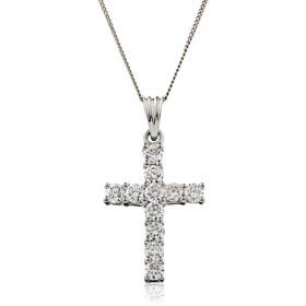 diamond cross pendants